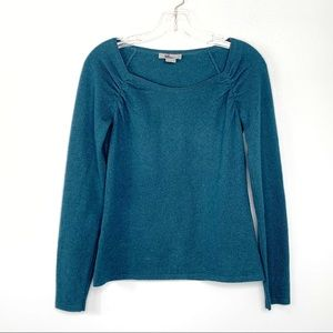 Ann Taylor Teal Cashmere Sweater Size S